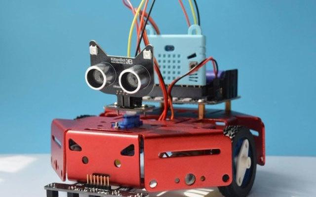 """编程界的""""乐高积木"""",让你零基础秒会编程 — Robot:bit 巡线避障小车"""