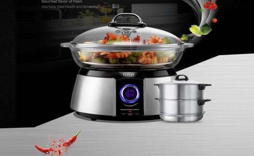 拓璞电蒸锅:一锅多用,火锅、蒸箱、消毒统统都到锅里来
