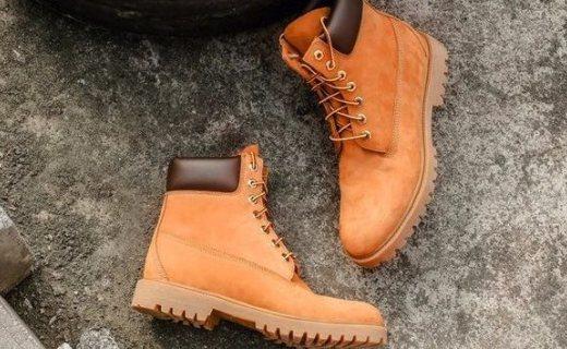 严选英伦工装大黄靴:进口头层水牛皮,防水透气耐磨