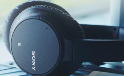 索尼无线蓝牙降噪耳机:一键智能AI降噪,超长续航