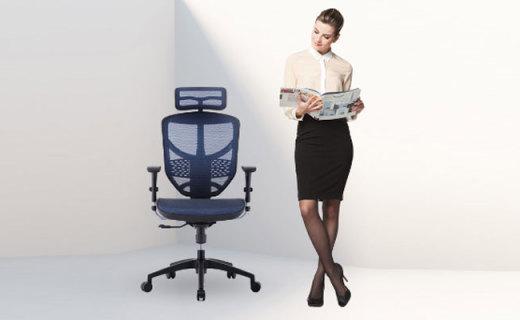 Ergonor办公座椅:舒适网布透气不闷,人体工学支撑久坐不累