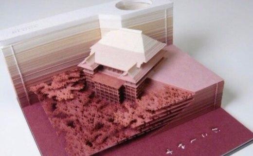 日本创意便签,撕着撕着就成了微型建筑模型