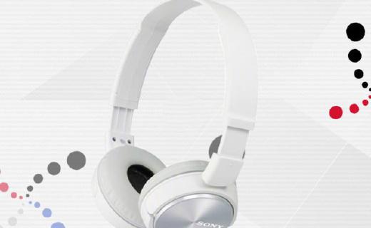 索尼mdrzx310耳机:内置30mm驱动单元,音质不错小巧便携