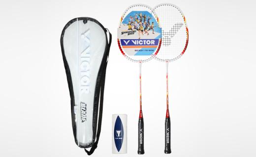 威克多羽毛球拍:鱼嘴流线型前套,减少风阻手感更精准