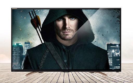 夏普55寸智能电视:4K超高清画质,时尚窄边,桥型底座