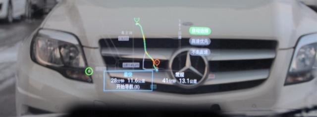 """""""航空设备""""装在汽车上,开车再不用低头看导航— 车萝卜HUD抬头显示器体验"""