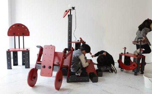 可以当做家具的积木玩具,趣味又实用!