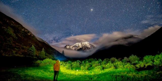 夜拍雪山最强辅助,NEO6R跑步头灯测评