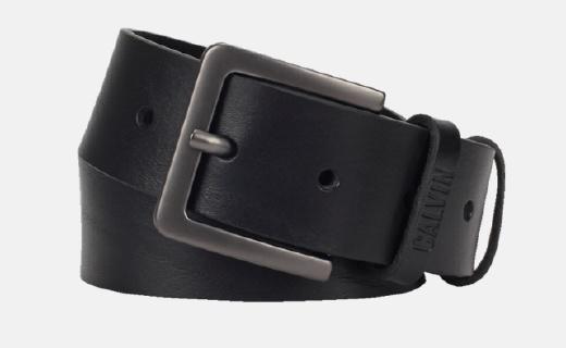 Calvin Klein皮带:牛皮革柔软细腻,扣眼设计经典简约