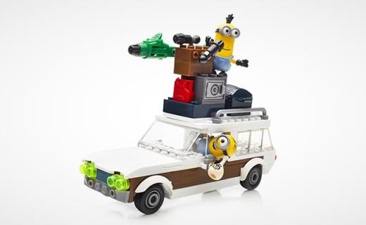 Mega Bloks Minions旅行度假车:小黄人主题,超多道具玩出花样