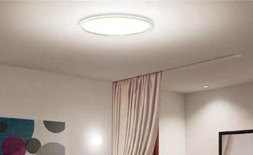 松下圆形LED吸顶灯:发光均匀无暗区,纤薄造型透光好