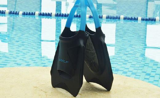 速比涛蹼状脚套,游泳进阶之选,无脚跟设计水中岸上都行动自如