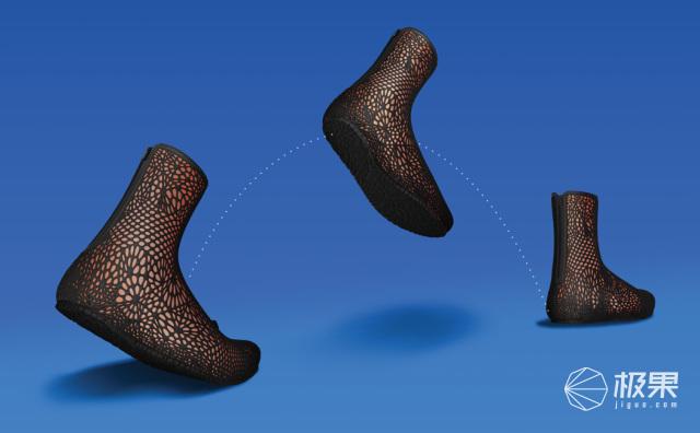 能自动适应脚掌的3D打印靴子,穿上超合脚