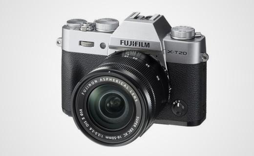 富士新款 X-T20 无反相机,对焦灵活还能拍4K