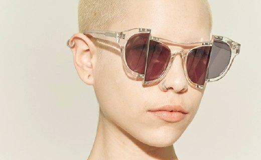 Percy Lau太阳镜:合金错位接口,时尚前卫设计大胆独特