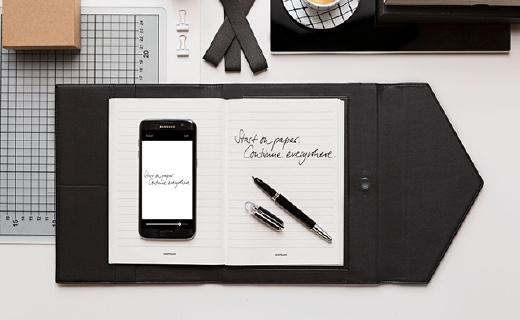 万宝龙高端智能笔记本,同步笔迹支持12种语言