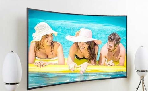 三星UA55KU6880电视:55吋曲面大屏,片源超丰富