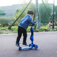 """滑板车中""""变形金刚"""",能骑能滑孩子出行神器 — 酷骑儿童滑板车深度体验   视频"""