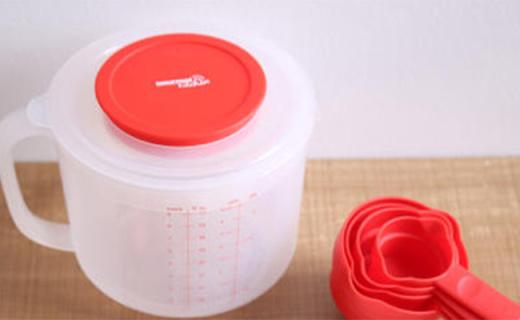 Gourmet Kitchen烘焙杯:防溅杯盖多种量尺,烘焙新手专用