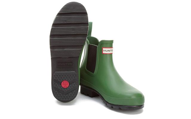 HUNTERORIGINALDARKSOLECHELSEABOOTS男士拼接雨靴