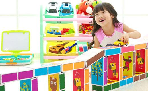ifam游戏纸盒积木:纸张材料轻巧安全,多图案激发孩子兴趣