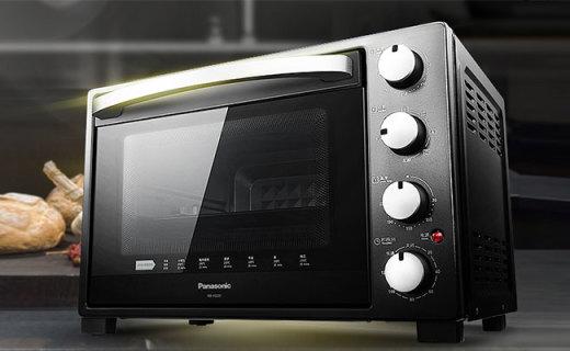 松下NB-H3201电烤箱:蒸烤烘焙一机多用,大容量满足家用