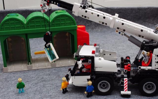 每一个男孩都有一个布鲁谢特梦— 米兔积木 1:16工程吊车