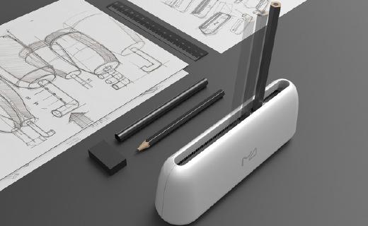 左右推拉削铅笔,卷笔刀的颠覆设计!