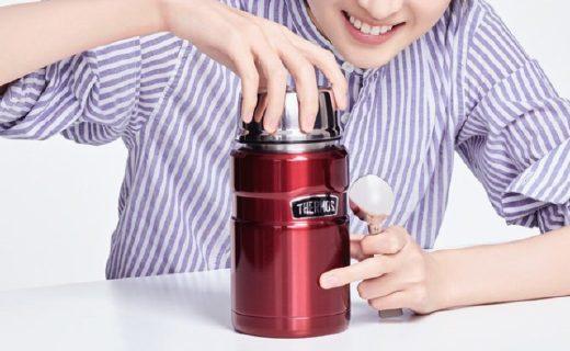 膳魔师焖烧杯:304不锈钢持久保温,折叠汤勺方便快捷