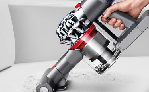 戴森V8 Absolute手持吸尘器:第八代强力马达,可工作40分钟。
