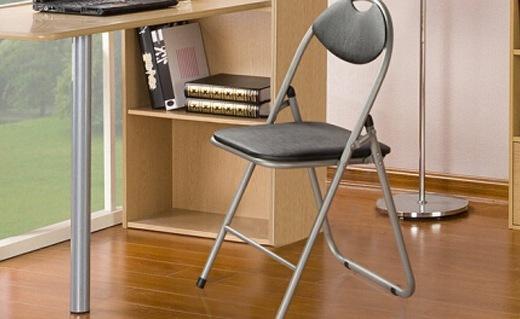 好事达折叠椅子:PU皮革坐垫,坐感柔软舒适