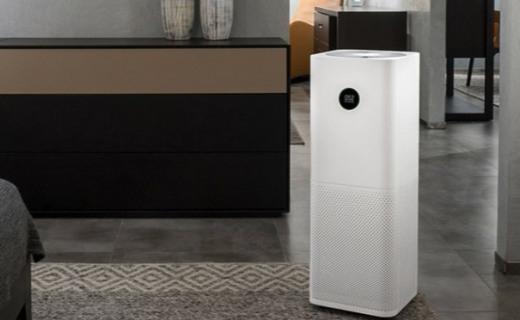 米家空气净化器Pro :OLED屏幕智能显示,高效吸附净化空气