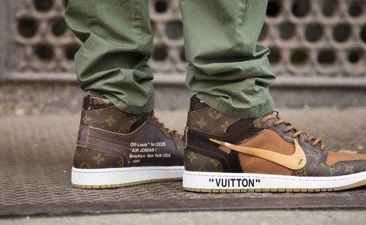 壕无人性!Louis Vuitton x Air Jordan 1球鞋即将发售