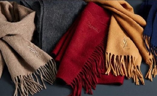 YSL纯羊毛围巾 :纯羊毛材质温暖舒适,款式低调有逼格