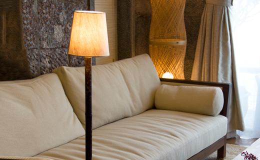 NatureBamboo台灯:天然紫竹原生古朴,麻布灯罩中式情结
