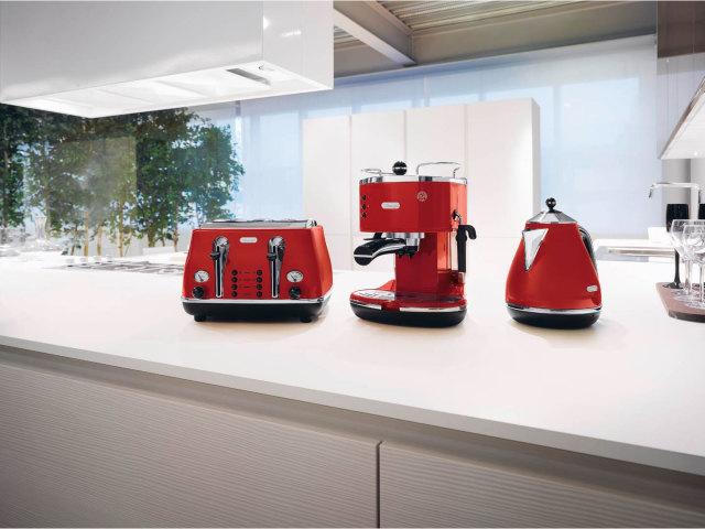 德龙(DeLonghi)ECO310De'Longhi德龙泵压式半自动咖啡机ECO310.VGRiconaVINTAGE复古系列甜蜜奶油白色(意大利品牌香港直邮国内官方联保两年)