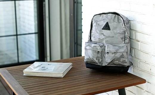 MACROPUS双肩包:帆布面料结实耐磨,迷彩配色百搭有型