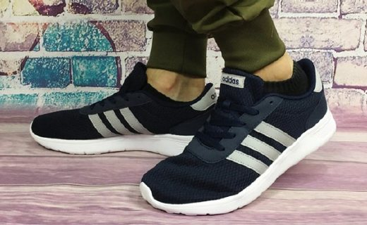 阿迪达斯BB9775休闲鞋:网布鞋面透气轻巧,减震鞋底防滑耐磨