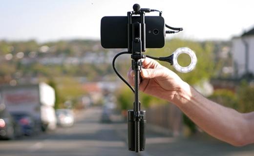 只要有这款自拍杆,手机就能拍电影