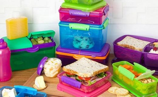 Sistema Lunch分层餐盒:1.5L大容量,PP材质安全无毒