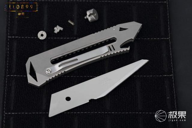 EDC也时尚,口袋里的小白鲨,NTK10钛合金工具刀评测