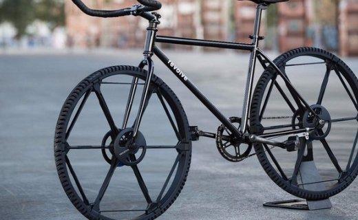 折叠自行车算什么?!有人发明了折叠轮胎