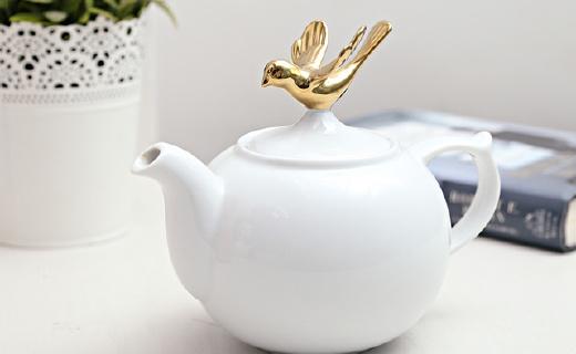 Topchoice陶瓷茶壶:优雅素净又吸睛,手感细腻色泽透亮