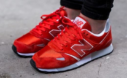 新百伦446运动鞋:麂皮材质柔软耐脏,红白配色时尚百搭