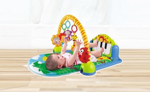 澳贝463325DS儿童健身架:满足宝宝坐爬躺需求,自带六首音乐