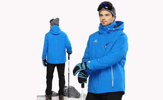 The First Outdoor滑雪冲锋衣:热压膜设计防风透气,保暖又时尚