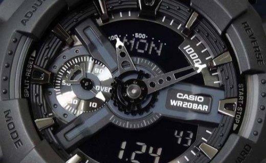 卡西欧石英男士手表:双屏显示防水防震,200M防水
