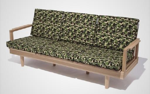 BAPE跨界做沙发,时尚和舒适兼备