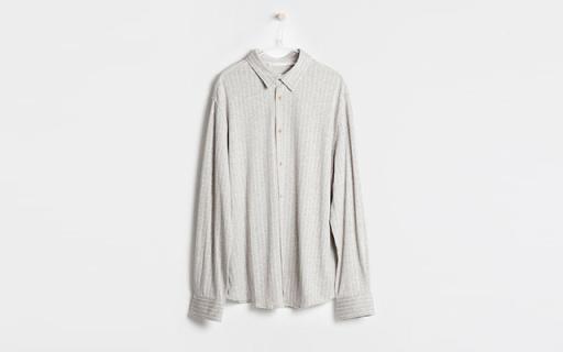 Zara Home男士条纹衬衫:棉质混纺面料舒适透气,上身效果巨佳