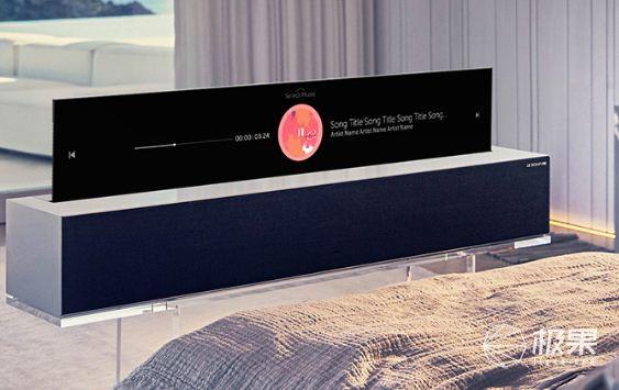 LG竟然发布卷帘门电视!升降太魔性了,我有些停不下来…